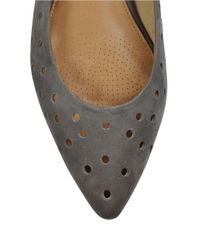 Corso Como | Black Gabrielle Perforated Leather Flats | Lyst