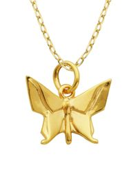 Lord & Taylor | Metallic Origami Butterfly Pendant Necklace | Lyst