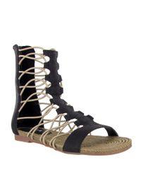 MIA | Black Gladiator Sandals | Lyst