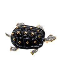 Kenneth Jay Lane | Black Turtle Pin | Lyst