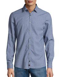 Strellson | Blue Sidney Patterned Sportshirt for Men | Lyst