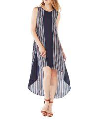 BCBGMAXAZRIA | Blue Mickayla Striped High-low Dress | Lyst