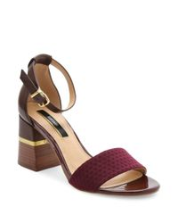 Kensie | Multicolor Estan Faux Leather-trimmed Open-toe Sandals | Lyst