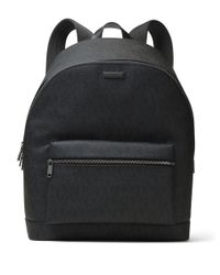 Michael Kors | Black Jet Set Textured Studded Backpack for Men | Lyst
