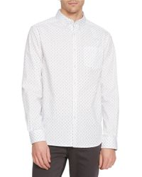 Kenneth Cole | White Surfboard Button-front Shirt for Men | Lyst