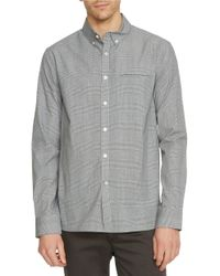 Kenneth Cole | Gray Plaid Button-front Slim-fit Shirt for Men | Lyst