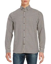 SELECTED | Blue Checkered Sportshirt for Men | Lyst