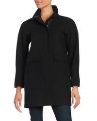 Vince Camuto   Black Plus Wool-blend Stand Collar Coat   Lyst