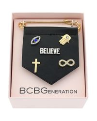 BCBGeneration | Metallic For Pins Sake Believe Bracelet Charm | Lyst