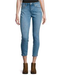 Free People | Blue Five-pocket Skinny Jeans | Lyst