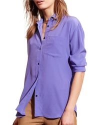 Lauren by Ralph Lauren   Multicolor Silk Long Sleeve Shirt   Lyst