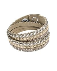 Swarovski - Natural Leather Bracelet - Lyst