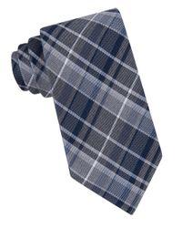 Calvin Klein | Blue Plaid Silk-blend Tie for Men | Lyst