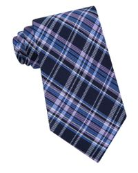 Lord & Taylor | Blue Runner Plaid Silk Tie for Men | Lyst