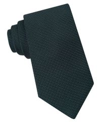 Michael Kors | Green Micro-dotted Silk Tie for Men | Lyst