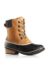 Sorel | Brown Slimpack Ii Waterproof Leather Boots | Lyst