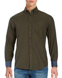 Ben Sherman   Green Point Collar Sportshirt for Men   Lyst