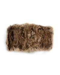 Surell | Brown Rabbit Fur Convertible Headband | Lyst