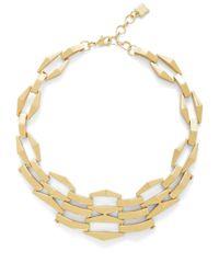 BCBGMAXAZRIA | Metallic Three-dimension Chain-link Necklace | Lyst