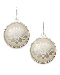 ALEX AND ANI | Metallic Lotus Peace Petals Necklace Charm | Lyst
