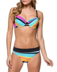 Bleu Rod Beattie - Blue Brighten Up Center Strap Underwire Bikini Top - Lyst