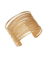 Lord & Taylor Metallic Multi-row Chainlink Cuff Bracelet