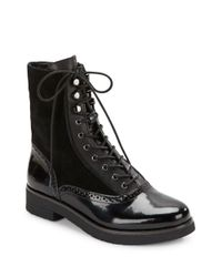 French Connection - Black Vanja Lace-up Boots - Lyst