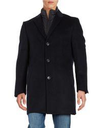 Hart Schaffner Marx | Blue Wool-blend Coat for Men | Lyst