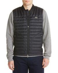 Lacoste | Black Lightweight Vest for Men | Lyst