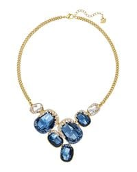 Swarovski | Blue Crystal 18k Goldplated Freckle Necklace | Lyst