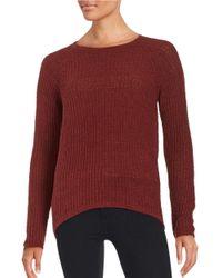 BB Dakota   Red Knit Crewneck Sweater   Lyst