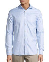 Michael Kors - Blue Checked Sportshirt for Men - Lyst