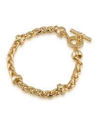 Lauren by Ralph Lauren - Metallic 12k Goldplated Braided Bracelet - Lyst