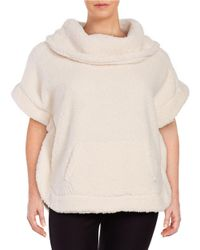 Lord & Taylor | Natural Sherpa Poncho | Lyst