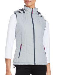 New Balance   Metallic Fleece Lined Puffer Vest   Lyst
