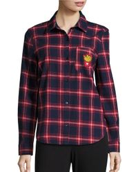 Honey Punch | Red Plaid Button-down Shirt | Lyst