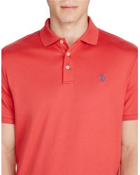 Polo Ralph Lauren Red Cotton Interlock Polo Shirt for men