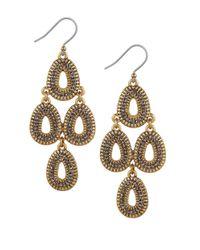 Lucky Brand   Metallic Chandelier Earrings   Lyst