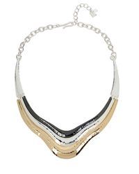 Robert Lee Morris - Metallic Tri-tone Sculptural Collar Necklace - Lyst