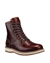 Timberland | Brown Britton Hill Waterproof Leather Boots for Men | Lyst
