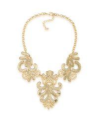 ABS By Allen Schwartz   Metallic Somewhere To Be Goldtone Casted Bib Necklace   Lyst