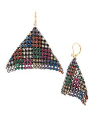 Betsey Johnson | Multicolor Multi Mesh Linear Earrings | Lyst