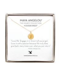 Dogeared | Metallic Love Life 14k Goldplated Heart Pendant Necklace | Lyst