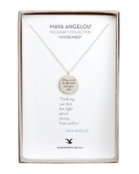 Dogeared | Metallic Nothing Can Sterling Silver Pendant Necklace | Lyst