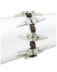 Uno De 50 - Metallic Braided Scattered Spike Bracelet - Lyst