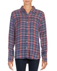Lucky Brand | Purple Plaid Button-front Shirt | Lyst