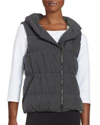 Bench | Black Hooded Quilted Puffer Vest | Lyst