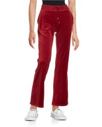 MICHAEL Michael Kors | Red Velour Drawstring Pants | Lyst