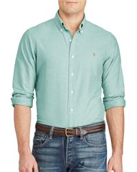 Polo Ralph Lauren | Green ?cotton Oxford Sportshirt for Men | Lyst