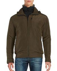 Weatherproof | Green Rugged Oxford Bomber Jacket for Men | Lyst
